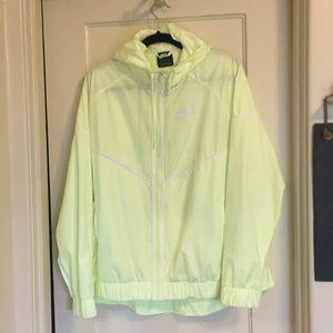 Nike Yellow Neon Classic Chevron Windbreaker